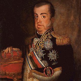 Pintura de D. João VI, o rei que não queria ser rei.