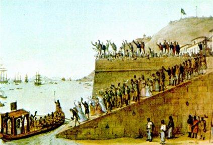 Partida da corte do Rio para Lisboa