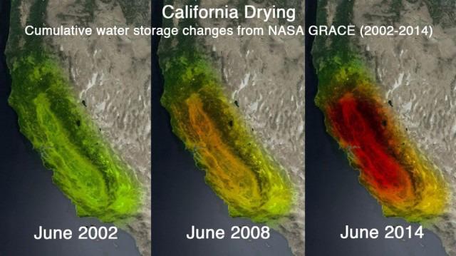 Mapeamento da água subterrânea no estado da Califórnia
