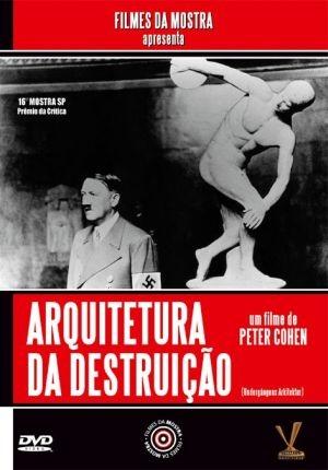 Capa do documentário com a imagem de Hitler em preto e branco